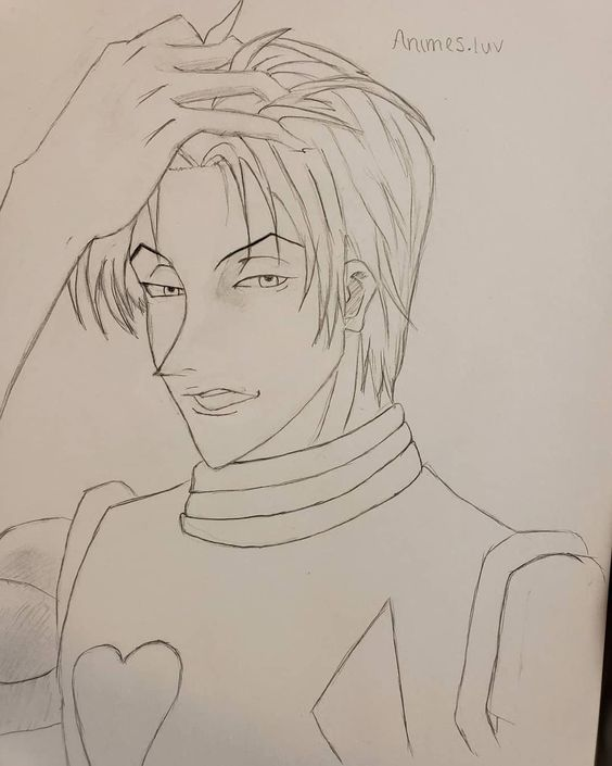 Hisoka With His Hair Down Anime Sketch Anime Fanart Manga Art