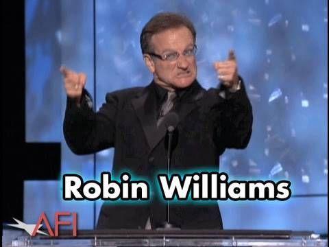 Robin Williams Salutes Robert De Niro at AFI Life Achievement Award - YouTube