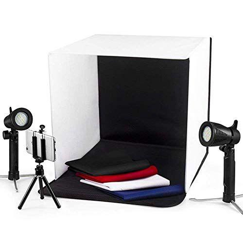 Esddi Shooting Tent Studio Photography Lighting Light Box Photography Blue Backdrops