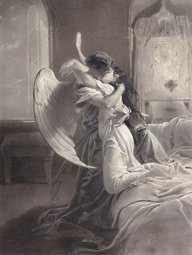 art-and-dream:    kiss by. Zichy Mihály Hungarian painter and designer, from 1827 - 1906. romantic erotic: