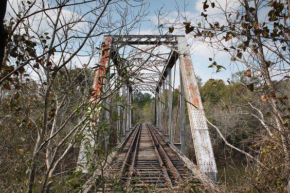 Abandoned Alabama Midland Railroad Bridge Over The Pea