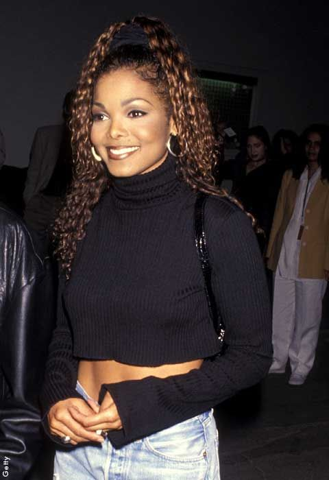 Janet Jackson was rocking a roll-neck crop back in 1994, we're loving it now.