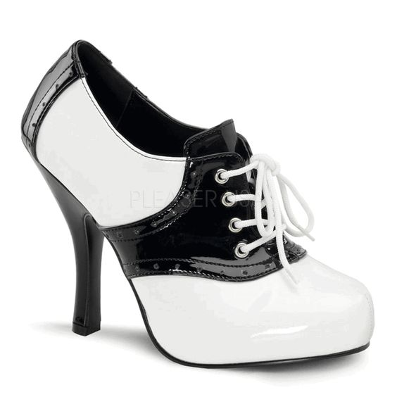 High Heel Saddle Shoes - so seriously cute!