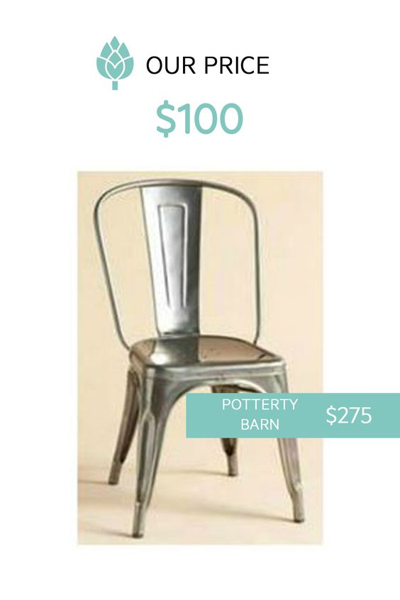Pottery Barn Looks At Nadeau Prices. #chair #modern #industrial