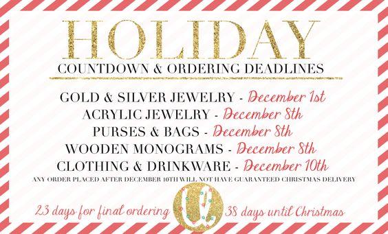 Christmas Ordering – United Monograms | Wooden monogram