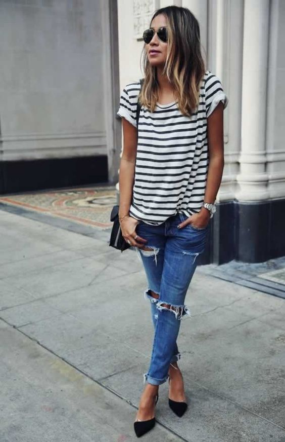 calca-jeans-tshirt-listras-street-style