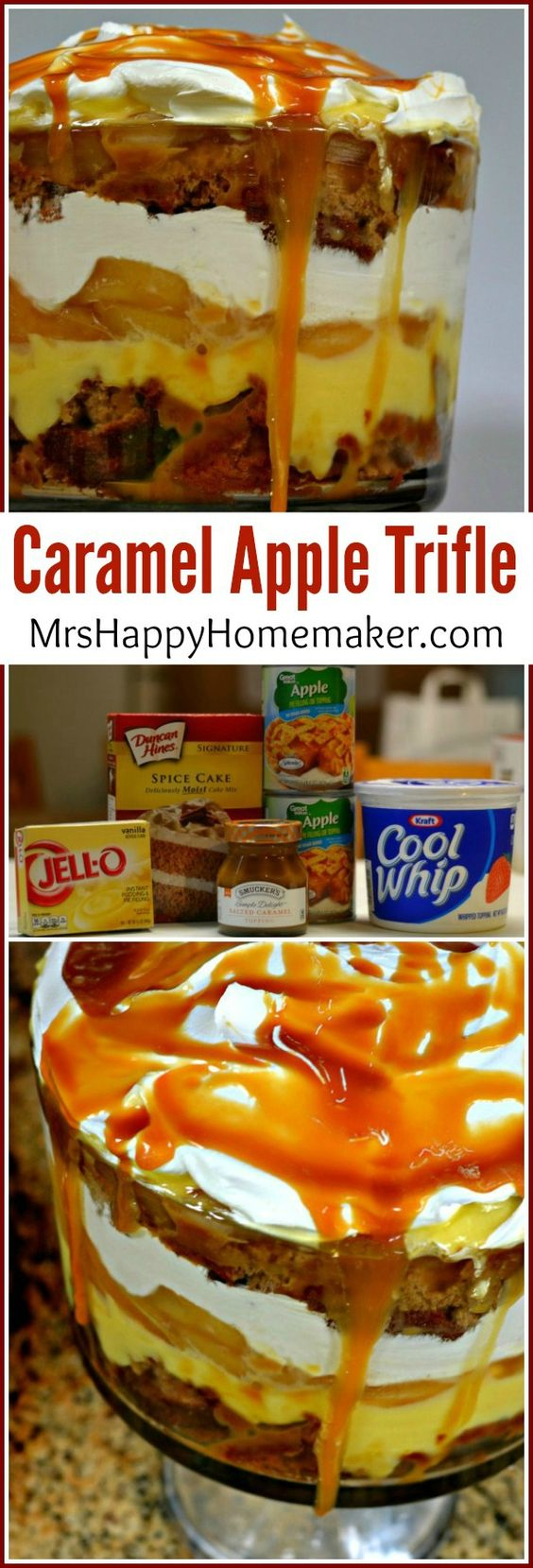 Caramel Apple Trifle - this is super easy to make & it's so good!