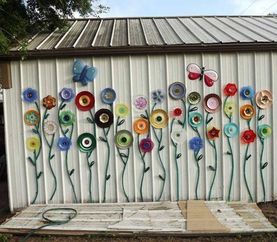 Gartenhaus aus metall sch ne blumen deko elemente garten for Blumen aus rostigem metall
