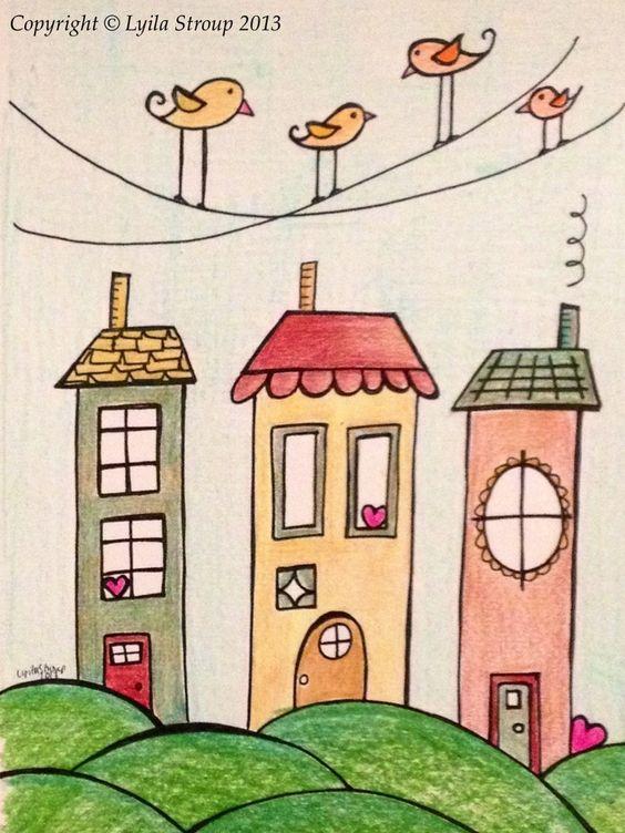 Cara menggambar rumah untuk anak SD kelas
