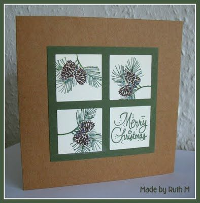 Nature Christmas card #Christmas #card #papercraft