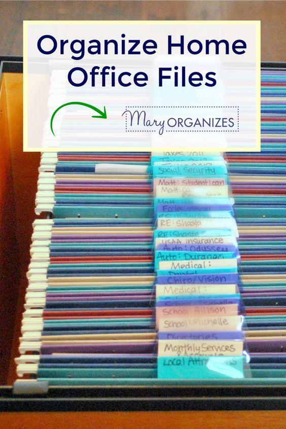Organize Home Office Files (Paper Management!) - creatingmaryshome.com