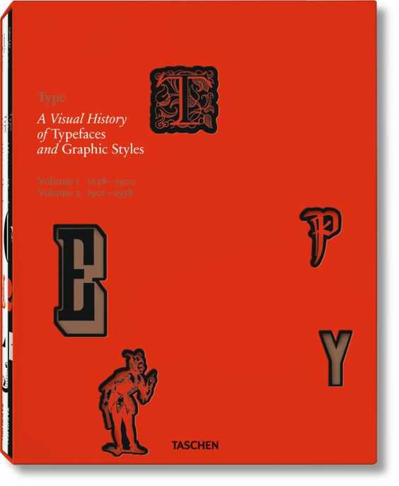 A visual history of fonts and graphic styles: 1628–1938. Published by TASCHEN Books