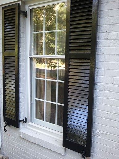 light house w/ glossy black shutters