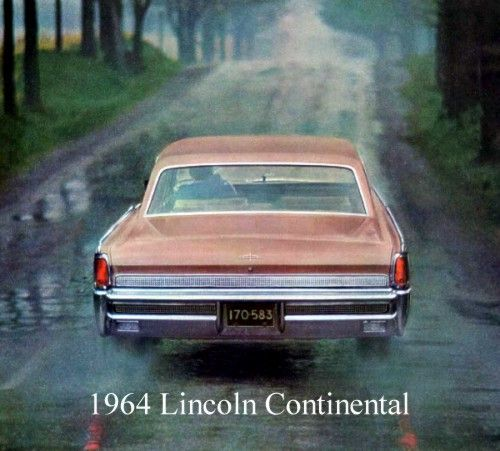 1964 lincoln continental sedan shown in rose metallic lincoln what a luxury car should be. Black Bedroom Furniture Sets. Home Design Ideas