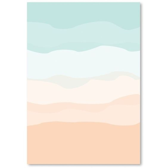 Mint Peach Abstract Poster Gallery Painting Print (160 BRL) ❤ liked on Polyvore featuring home, home decor, wall art, abstract home decor, abstract wall art, peach wall art, abstract painting and abstract posters