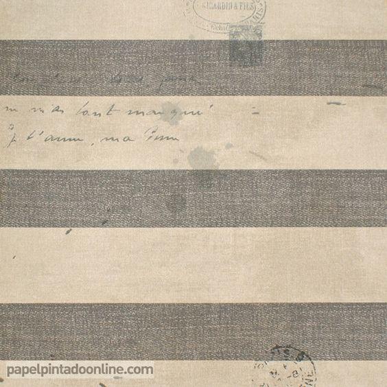 Papel pintado paris rs70108 de rayas horizontales en gris - Papel pintado rayas horizontales ...