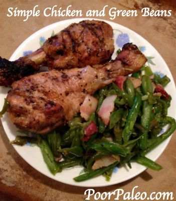 Real, Simple food the whole family will eat! Simple Chicken and Green Beans! #Paleo