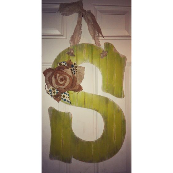 Large Shabby Initial Door Hanger by AtCalvaryCreations on Etsy https://www.etsy.com/listing/180834382/large-shabby-initial-door-hanger