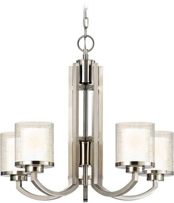 NEW Dolan Designs Horizon 5-Light Chandelier Satin Nickel 2950-09