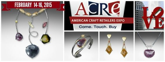 ACRE is American Craft Retailers Expo produced by wholecrafts.com and Q EVON jewelry will be there February 2015 in Philadelphia.
