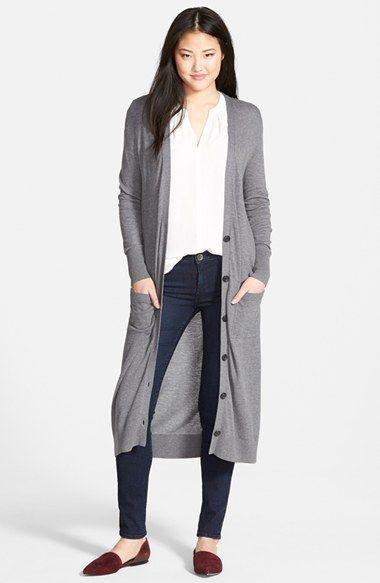 Petite Women's Halogen Cotton Blend Duster Cardigan | Dusters ...