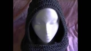 How to crochet a Easy Scoodie Part 1 of 2 Scarf/Hoodie, via YouTube.