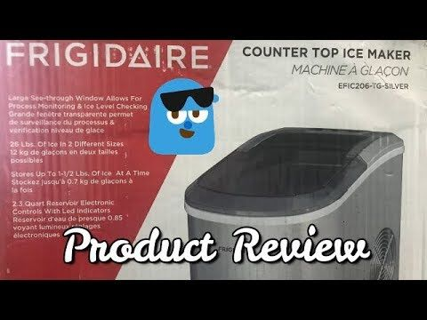 Frigidaire Counter Top Ice Maker Product Review Ice Maker Ice