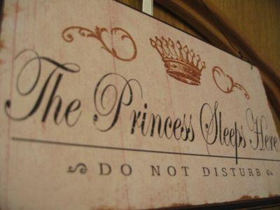 The Princess Sleeps Here - Adorable for my princess's room!
