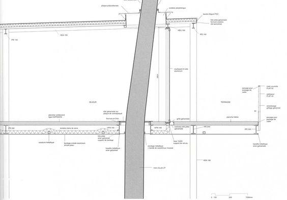 lacaton vassal - cap ferrat - tree through building section