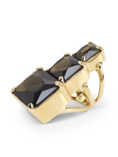 It's the perfect #cocktailhour #accessory. @BCBG MAX AZRIA #statementring #darkknight