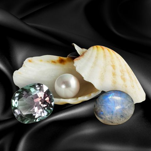Pearl, Moonstone, or Alexandrite? All are the Birthstone for June! #AmericanGemSociety  @pinterest.com/amergemsociety/