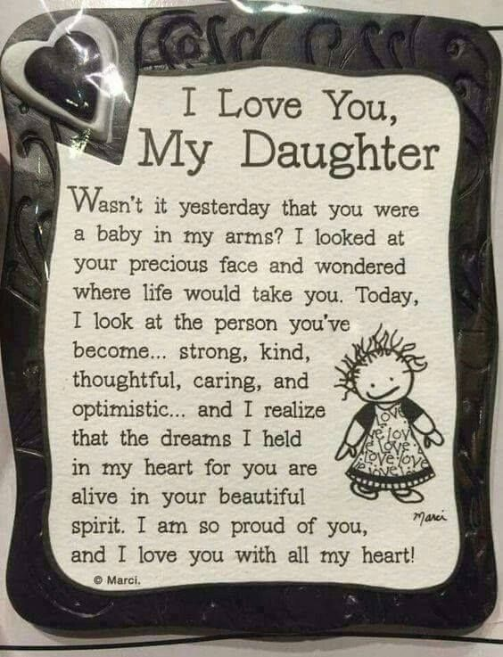 Handpicked Finds You Ll Love To Buy I Love My Daughter To My Daughter My Daughter Quotes
