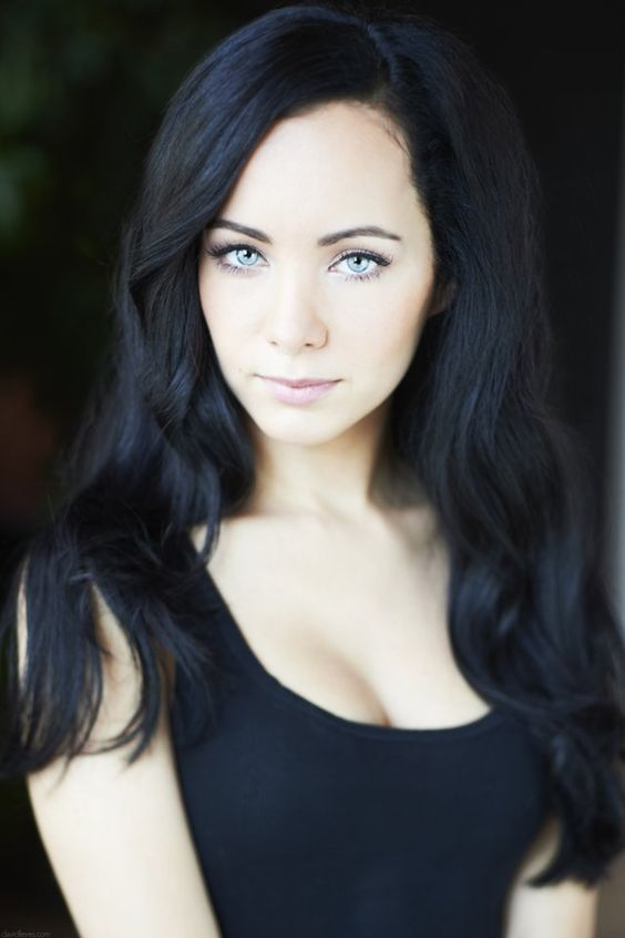 Image result for pale with black hair