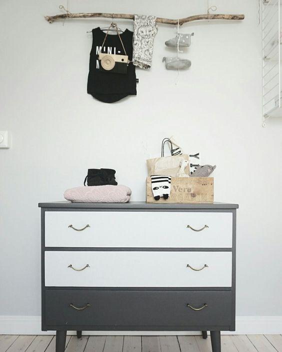 habitación niños gris estilo nórdico