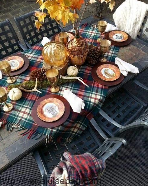 Tischdekoration Ein Paar Ideen Um Die Farben Des Herbstes In