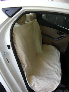 How to Make a Backseat Car Cover by Stacie Thinks She Can