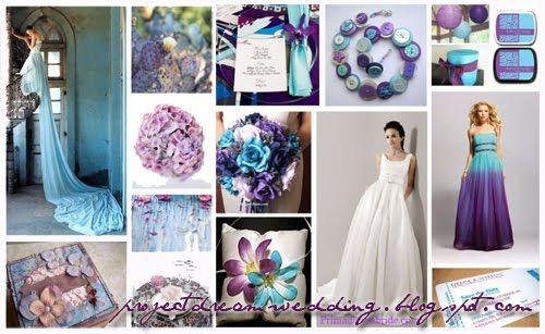 Malibu Blue Purple And Silver Wedding