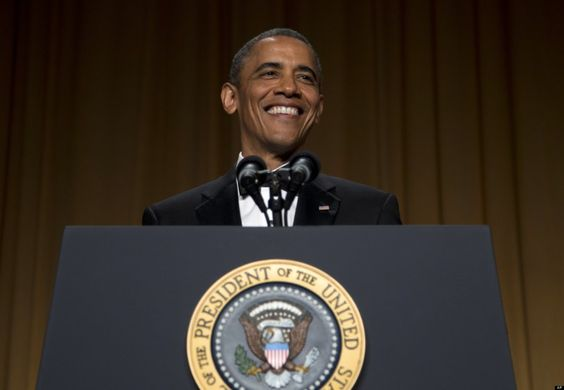 """""""Let's face it Fox, you'll miss me when I'm gone,"""" said  President Obama in his speech at the White House Correspondents Dinner tonight after joking the cable news station was a Koch Brother front """"It'll be harder to convince the American people that Hillary was born in Kenya,"""" he added to big laughs."""