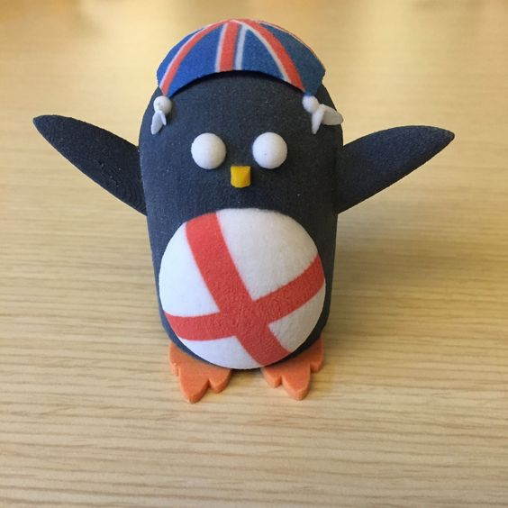 Peter the Penguin as an English Barmy Army - 3D Printed model from Tinkercad Community