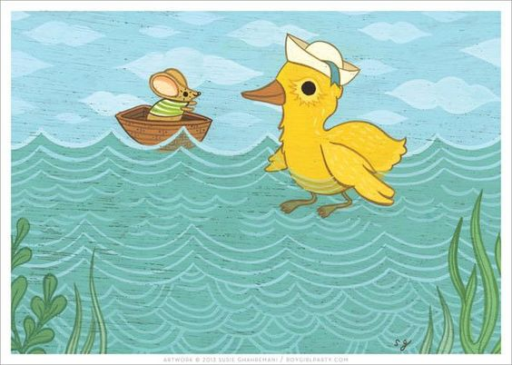 Duck and Mouse Print: