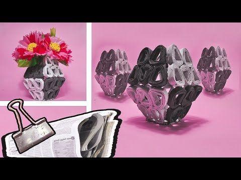 Cara Membuat Vas Bunga Dari Koran Bekas Diy Newspaper Flower