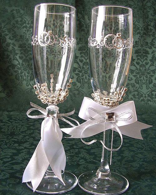 Como decorar copas para bodas dtodomanualidades for Ideas para decorar una boda