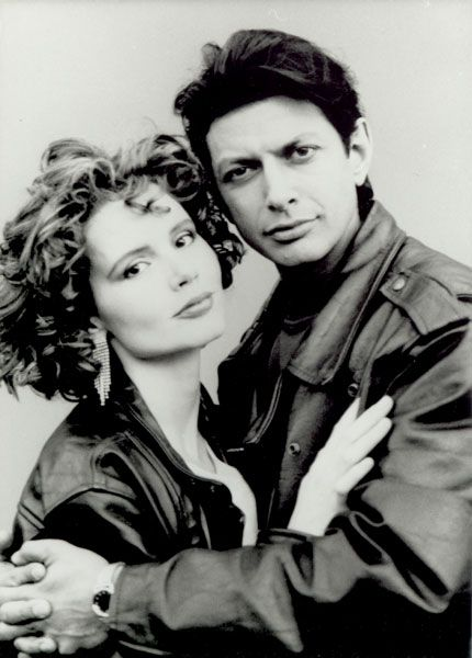 Jeff Goldblum and Geena Davis