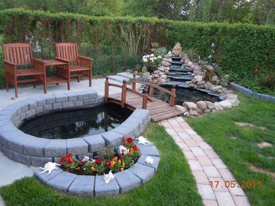 Vår Koi damm / Our Koi pond 2013 | Vår trädgård/ Our Garden i ...