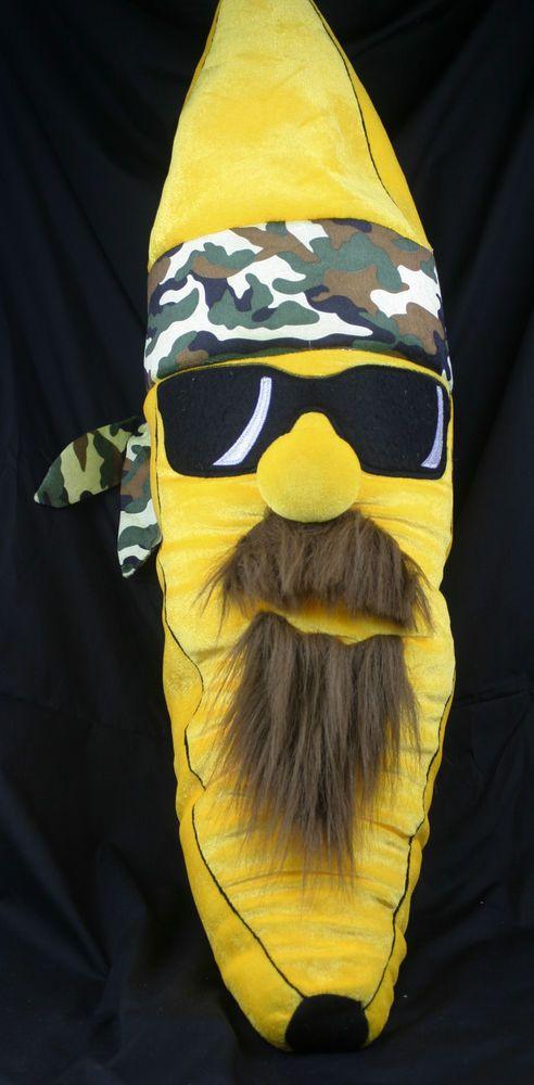 Duck Dynasty Style Banana Plush Beard Mustache Camo