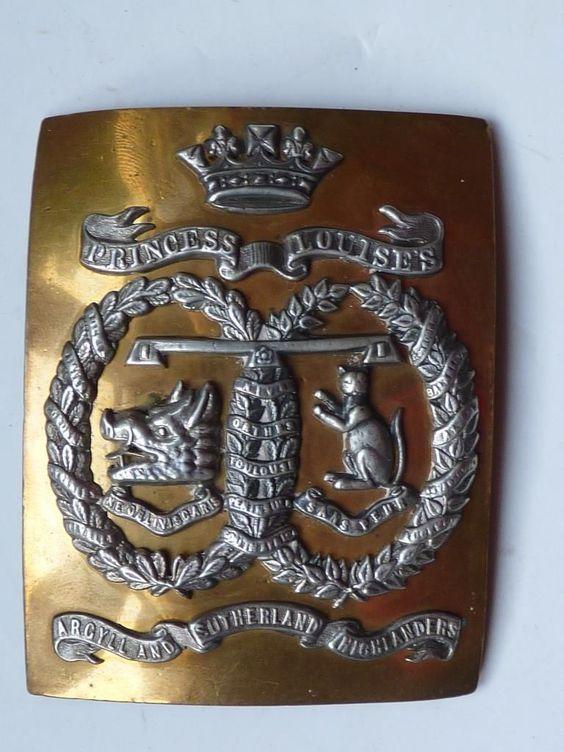 SCOTTISH OFFICERS SHOULDER CROSS BELT PLATE TO A & S HIGHLANDERS c1880 | eBay