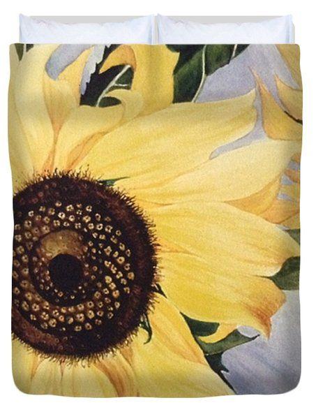 The Yellow  Duvet Cover by Saifon Anaya