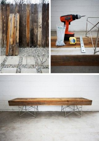 recycled wood fence bench seating diy from muyingenioso.com  banco-valla-madera-diy-muy-ongenioso-1