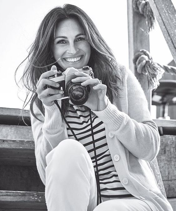 """Our #WCW goes out to our June cover star, the incomparable #JuliaRoberts. In the issue, she opened up about spending time with her kids: """"It's about allowing time just to exist. Conversations require a complete disregard for the clock—so that you can just listen and really be present. It becomes a paradox of efficiency and presence. That's why I love the summer. I just don't care what time it is."""" 