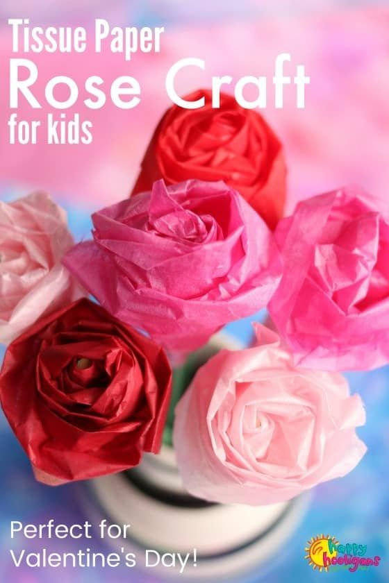 How To Make A Tissue Paper Rose Paper Rose Craft Paper Flowers